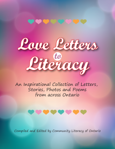 clo asked students staff volunteers and anyone with a passion for literacy to create a love letter which shared